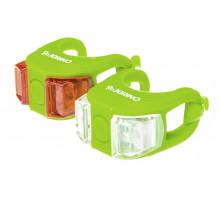 Мигалки ONRIDE Dual набір (передня+задня) зелений